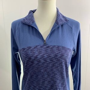 Columbia M 1/4 zip long sleeve top